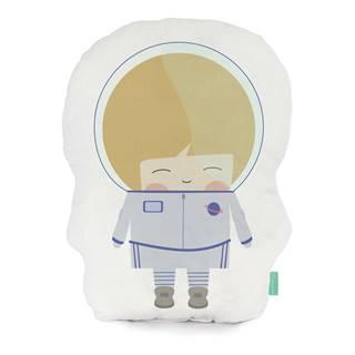 Vankúšik z čistej bavlny Happynois Astronaut, 40×30 cm