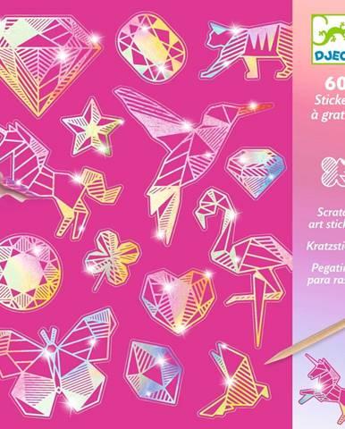 Sada 4 vyškrabávacích obrázkov Djeco Rainbow Ornaments