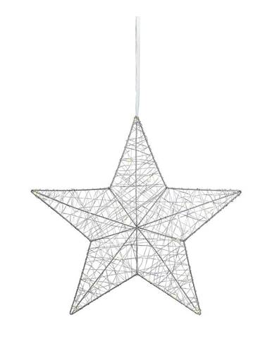 LED svietiaca dekorácia Markslöjd Tjusa Star Silver, ø 50cm