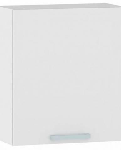 Horná kuchynská skrinka One EH60, pravá, biely lesk, šírka 60 cm%