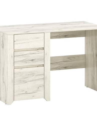 Písací stôl Carlo dub craft biely