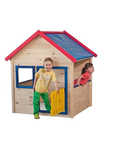 Woody Woody Drevený záhradný domček s farebným lemovaním 10110