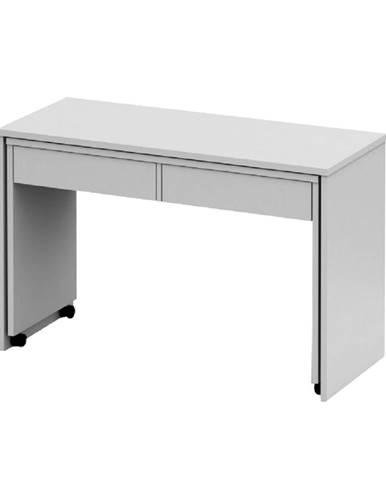 Rozkladací PC stôl so šuplíkmi biela VERSAL NEW