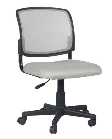 Otočná stolička sivá/čierna RAMIZA