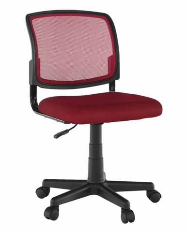 Otočná stolička tmavočervená/čierna RAMIZA
