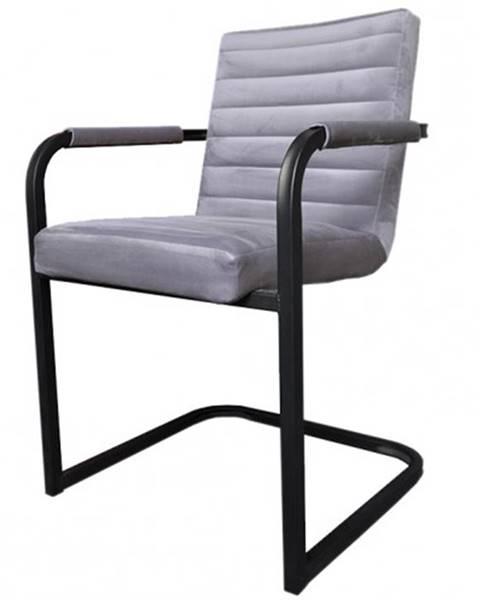 OKAY nábytok Jedálenská stolička Merenga čierna, svetlo sivá