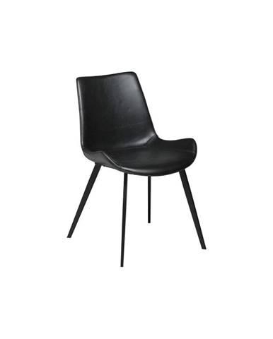 Čierna koženková jedálenská stolička DAN-FORM Denmark Hype