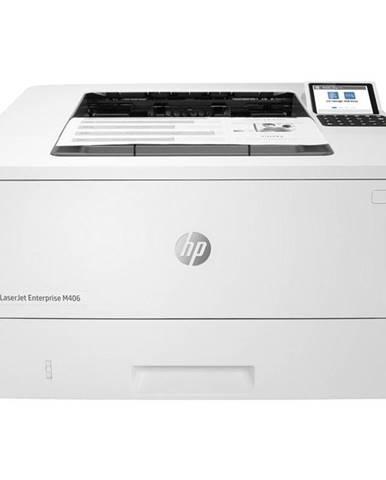 Tlačiareň laserová HP LaserJet Enterprise M406dn biely