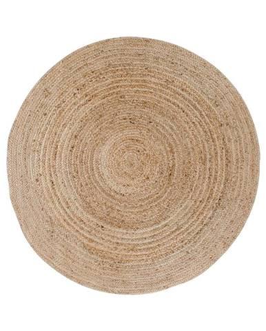 Svetlohnedý okrúhly koberec HoNordic Bombay, ø 90 cm