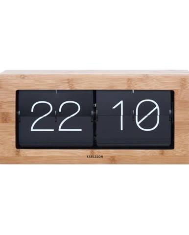 Drevené preklápajúce hodiny Karlsson Flip, 37×17,5 cm