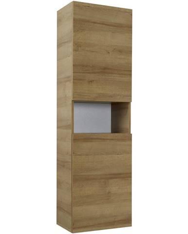 Sadena VYSOKÁ SKRIŇA, farby dubu, 45/168/43 cm - farby dubu