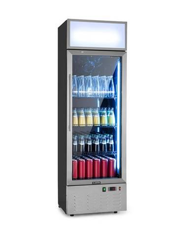 Klarstein Berghain, chladnička na nápoje, 188 l, RGB vnútorné osvetlenie, 162 W, ušľachtilá oceľ