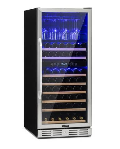 Klarstein Vinovilla 116D, veľkokapacitná chladnička na víno, 313l, 116 fliaš, ušľachtilá oceľ