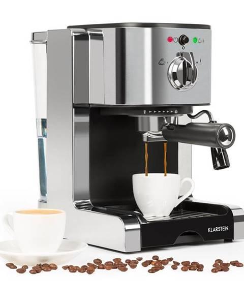 Klarstein Klarstein Passionata 20 kávovar na výrobu espressa, 20 bar, cappuccino, mliečna pena, strieborná farba