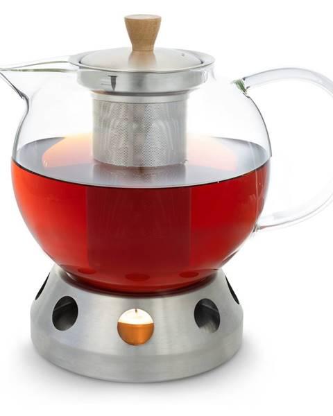 Klarstein Klarstein Sencha, dizajnová kanvica na čaj, s ohrievačom Hibiscus z ušľachtilej ocele, 1,3 l, vkladacie sitko