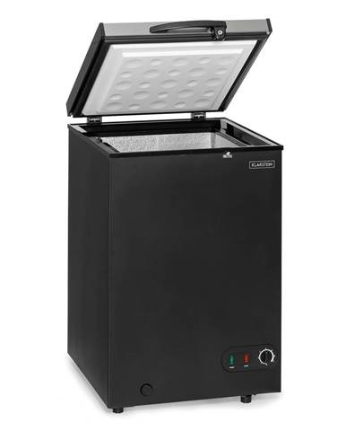 Klarstein Iceblokk 100, truhlicová mraznička, voľne stojaca, 98Ltr, kôš, EEK A+, čierna