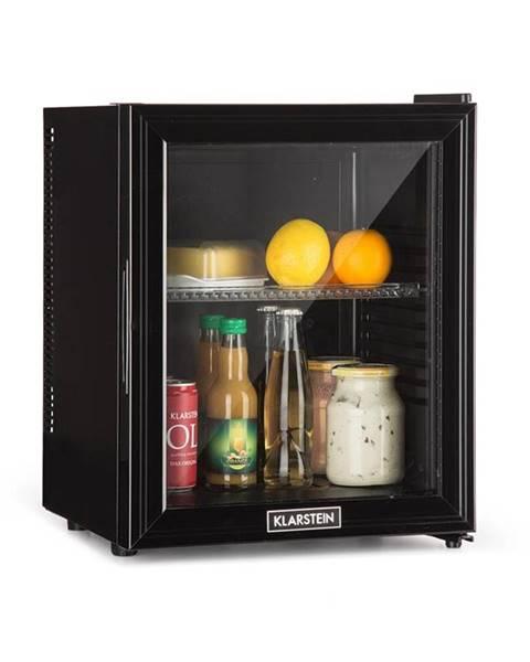 Klarstein Klarstein Brooklyn 24L, chladnička, A, LED, plastová polica, sklenené dvere, čierna