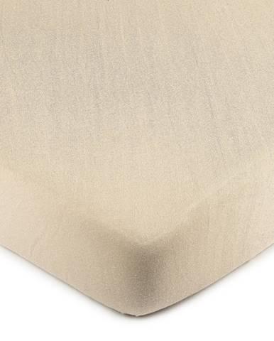 4Home jersey prestieradlo béžová, 100 x 200 cm