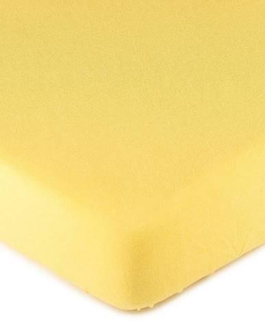 4Home jersey prestieradlo žltá, 160 x 200 cm