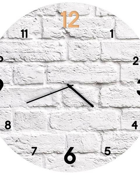 MERKURY MARKET Sklenené hodiny 30cm BRICK