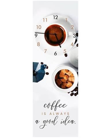 Sklenené hodiny 20X60 COFFEE
