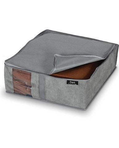Sivý úložný box Domopak Stone, 45 x 40 cm