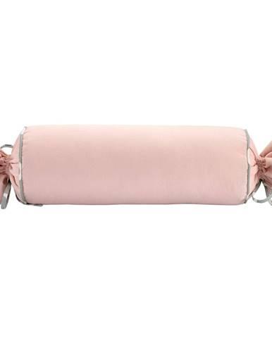 Ružová obliečka na vankúš WeLoveBeds Rose Quarz Candy, Ø 20 × 58 cm