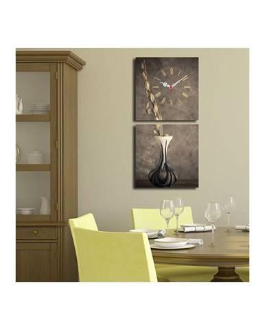Obrazové hodiny Kompozícia s vázou, 60×28 cm