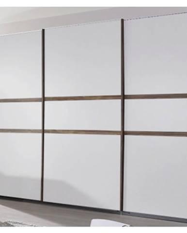 Šatníková skriňa Bernau, 271 cm, dub stirling/biela, posuvné dvere%
