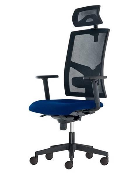 Sconto Kancelárska stolička PAIGE modrá