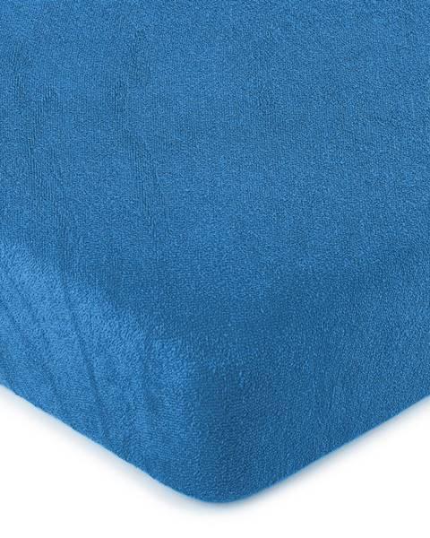 4Home 4Home froté prestieradlo tmavo modrá, 180 x 200 cm