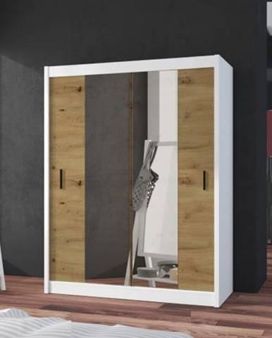 Šatníková skriňa Ragla - 150x215x61 cm