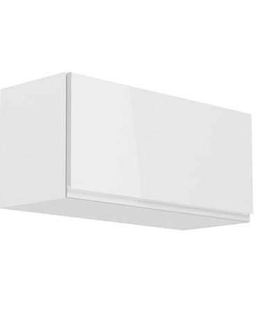 Horná skrinka biela/biely extra vysoký lesk AURORA G80K poškodený tovar