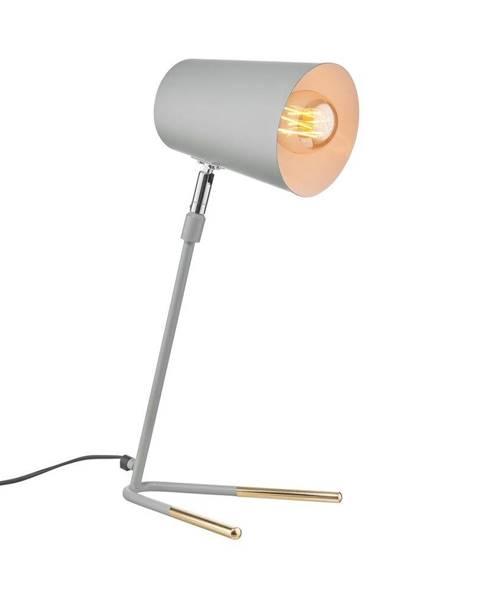 LUXA LUXA Stolná lampa 47 cm - šedá/zlatá