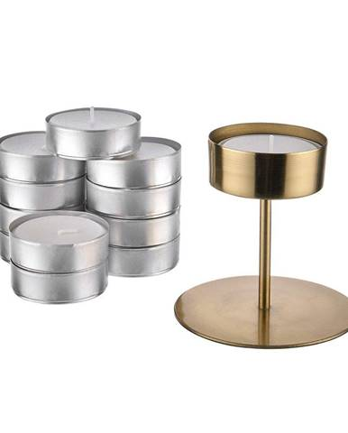 HIGHLIGHT Set svietniku a maxi čajové sviečky