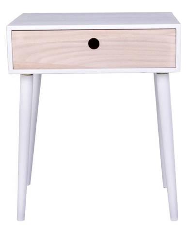 Drevený odkladací stolík so zásuvkou HoNordic Parma