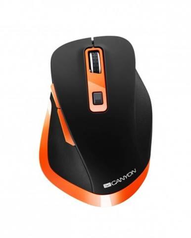 Bezdrôtová myš Canyon CNS-CMSW14BO, čierno-oranžová