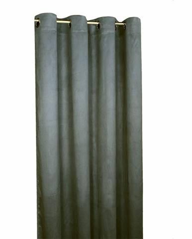 Forbyt Zatemňovací záves Suedine tmavosivá, 140 x 240 cm, sada 2 ks