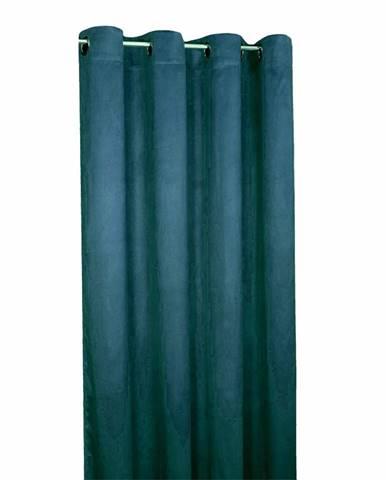 Forbyt Zatemňovací záves Suedine námornícka modrá, 140 x 240 cm, sada 2 ks