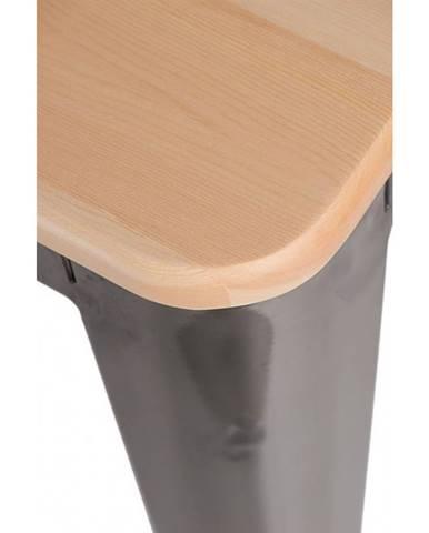 ArtD Barová stolička Paris 75cm Drevená-Sosna prírodná metalická