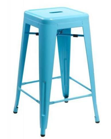 ArtD Barová stolička Paris 75cm inšpirovaná Tolix modrá