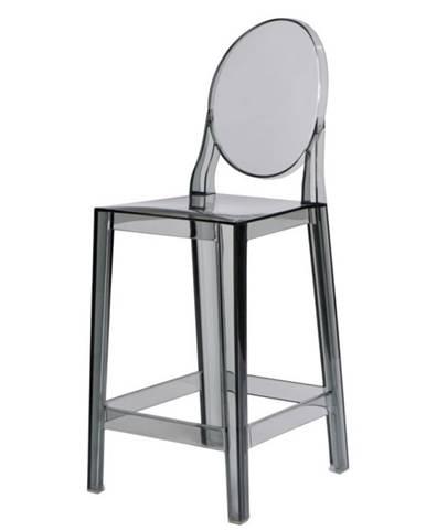 ArtD Barová stolička Viki dymová transparentná