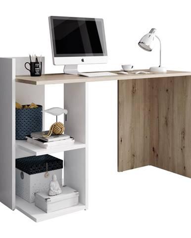 PC stôl dub artisan/biely mat ANDREO