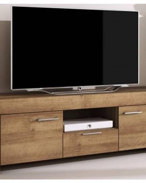 ASKO - NÁBYTOK TV skrinka s policou Sky, dub riviera%