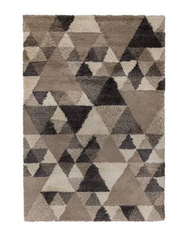 Sivo-hnedý koberec Flair Rugs Nuru, 60 x 230 cm