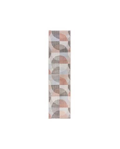 Sivo-ružový koberec Flair Rugs Centro, 60 x 230 cm