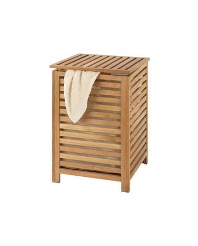 Kôš na bielizeň z orechového dreva Wenko Laundry Bin Norway, 65 l