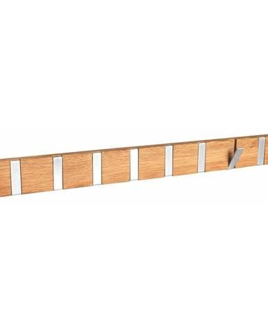 Prírodný dubový vešiak s 8 výklopnými háčikmi Rowico Odin