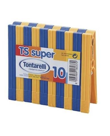 "Štipce na prádlo UH sada 10ks mix ""TS SUPER"" TONTARELLI"
