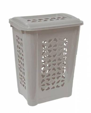 Kôš na špinavé prádlo, UH, 45x34x60 cm, 65 l, HAMPER, šedý